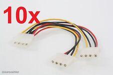 """10 Stück Internes PC Stromkabel Y-Adapter Y-Kabel IDE/EIDE 5,25"""" 1 x Stecker ..."""