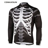 New Men's Long Sleeve Cycling Comfort Jersey Outdoor Shirts EOCLJ06 Skeleton