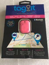 Tzumi Tag-it Bluetooth Tracking Device Luggage Keys Pet Purse Car (Pink)
