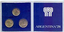 3 Münzen * coins * monedas Football * Fußball Weltmeisterschaft Argentinien1978