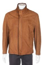 LONE PINE American Made Suede Leather Jacket 42 Brown Fleece Lining Heavy Coat L