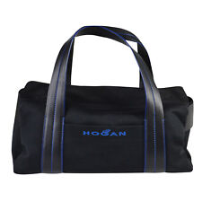 NWT Hogan Matrix Neoprene Bag Medium Black/Blue $495