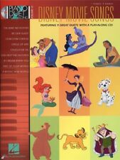 Piano Duet Play-Along Disney Movie Songs Learn Play Tunes Themes MUSIC BOOK CD
