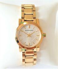 Burberry Watch Womens White Dial Gold Band Gold Case BU9203 Genuine Mini VIP