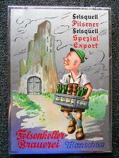 Felsenkeller Brauerei Monschau altes Blechschild um 1960