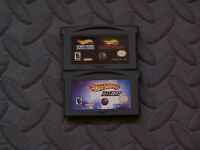Lot Nintendo Game Boy Advance GBA Games Hot Wheels Titles 3