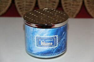 Bath & Body Works Blue Ocean Waves 3 Wick Scented Candle 14.5 oz