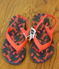 Toddler boy OLD NAVY RED LOBSTERS SANDALS FLIP FLOPS SHOES NWT 10