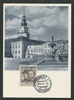 CSSR MK 1948 KROMERIZ MAXIMUMKARTE CARTE MAXIMUM CARD MC CM d4342