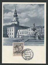 CSSR MK 1948 Kromeriz maximum carta carte MAXIMUM CARD MC cm d4342