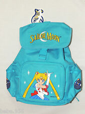 """NWT  *SAILOR MOON*  BLUE  CANVAS  BACKPACK  12"""" X 9"""" X 4 1/2"""" WITH SIDE POCKETS"""