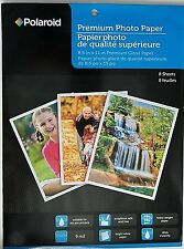 "POLAROID PREMIUM GLOSSY PHOTO PAPER All Ink Jet Printers 8.5 "" x 11"", 8 Sheets"