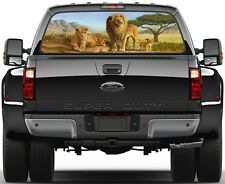 Lion Family Painting Rear Window Graphic Decal Truck SUV
