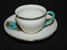W H GOSS CRESTED CHINA CUP & SAUCER COAT OF ARMS OF PORTSMOUTH