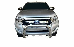 """Chrome Nudge Bar S/S 304 3"""" Grille Bumper Guard for Ford Ranger 12-18 PX1 PX2"""