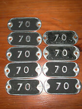4 dispos Plaque en fonte d/'aluminium numérotée N° 150