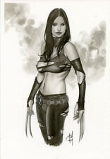 SEXY X-23 SK#819 X-MEN  ORIGINAL PINUP GIRL ART by ALEX MIRANDA