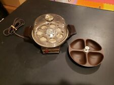 Vintage Oster Automatic Electric Egg Cooker & Poacher 580-06B Tested & Working