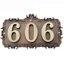 Address Copper Letter House 3Numbers Plaque Apartment Metal Custom Number Door