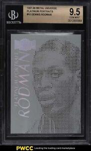 1997 Metal Universe Platinum Portraits Dennis Rodman #10 BGS 9.5 GEM MINT
