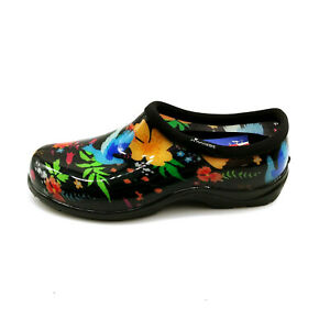 Sloggers Womans Peaceful Garden Waterproof Garden Shoe Flowered Sz 7 M NEW