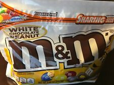 NEW White Chocolate Peanut M&M's USA Candy Resealable bag 272.2g American Import