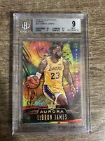 2018-19 Court Kings Lebron James Aurora SSP Case Hit Lakers BGS 9