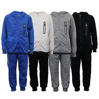 boys cycling tracksuit kids hooded top bottoms zip sweatshirt jogging summer
