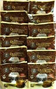 Old Town 3-In-1 Instant White Coffee Mix with Cane Sugar 15 Sticksx36 g-12 count