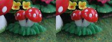 2 champignons, maison de poupées Jardin Fleurs Plantes miniatures