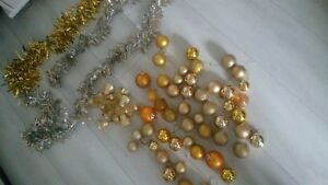 53x gold large mixed bundle XMAS christmas childrens tree decorations