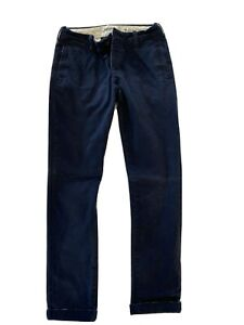Mens Abercrombie And Fitch 28x32 Chinos Navy Pants