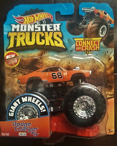 2019 HOT WHEELS MONSTER TRUCKS 1:64 - DODGE CHARGER R/T - NEW ON CARD