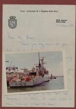 HMS AMAZON (F169) Letter (1974) Commander W J Bingham & Photograph  qp283