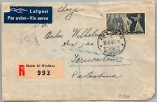GP GOLDPATH: SWITZERLAND COVER 1947 AIR MAIL REGISTERED LETTER _CV777_P24