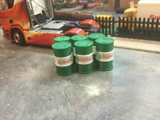 6X 3D Printed  1/50 Scale Green & White Oil Barrel , Accessories , Load, Diorama