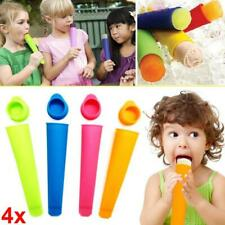 6X Ice Cream Silicone Lolly Mould Push Up Frozen Stick Yogurt Jelly Maker Mould