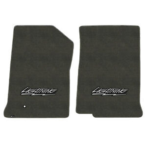 FOR FORD F-150/F-250 1999-2000 Front Floor Mats SMOKE LIGHTING LOGO 620205