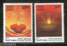 India 2017 Hindu Festival of Lights Diwali Joints Issue with Canada 2v MNH