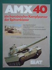 1/1985 PUB GIAT ARMEE FRANCAISE CHAR AMX 40 KAMPFPANZER TANK ORIGINAL GERMAN AD