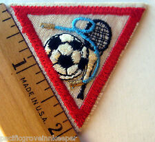 Girl Scout 1986-1998 Brownie SPORTS & GAMES TRY-IT Badge Patch Soccer Tennis