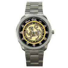 Shotokan Karate Gold Tiger Logo Japanese Numeric Watch