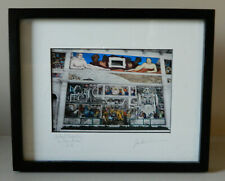 Diego Rivera framed print of a Detroit Mural 9 x 11, signed, South Wall of DIA