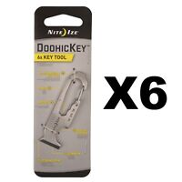 Nite Ize Doohickey 6x Key Tool Stainless Steel Compact Keychain Tool (6-Pack)