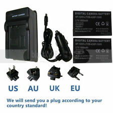 2X PK Battery + Charger for TOSHIBA Camileo A35 X100 H30 H31 Camcorder