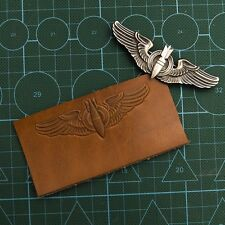 CUSTOM WWII LEATHER NAME TAG/BADGE PILOT WINGS/A2 B-3 JACKET/BOMBARDIER