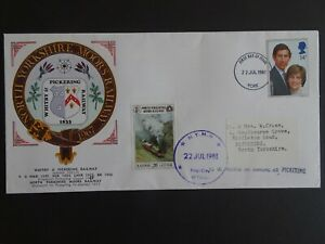 RWC North Yorkshire Moors Railway First day stamp cover dated July 1981