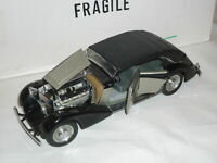 Franklin Mint 1/24 Scale Diecast - B11R196 The 1939 Maybach Zeppelin black