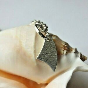 """Solid Sterling silver Shark Fin  pendant necklace, 18"""" chain"""
