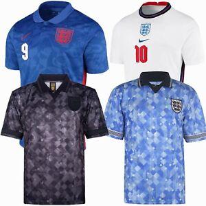 1990/2021 England Black/White/Blue Football Shirt Retro Adults Soccer Jersey